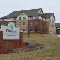 Diamond Senior Apartments at Wingate Drive Sign