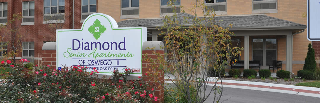 Diamond Senior Apartments sign