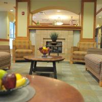 Wrightwood Senior Apartments Fireplace